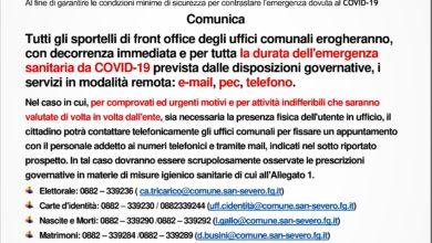 Photo of UFFICI COMUNALI EROGANO SERVIZI PUBBLICI AL TELEFONO O IN VIA TELEMATICA