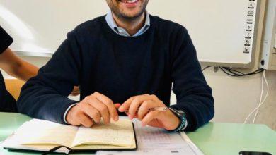 Photo of L'avvio alla lezione del prof. Amedeo Di Tella con la sua classe per via differita in epoca di CoVid-19.