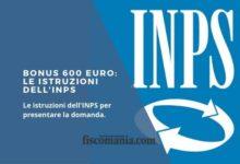 Photo of Da oggi bonus 600 euro, a chi spetta. Come richiederlo all'Inps: le istruzioni