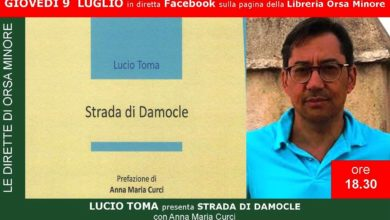 Photo of LE DIRETTE DELL'ORSA LUCIO TOMA presenta STRADA DI DAMOCLE