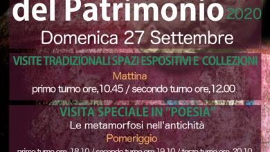 Photo of OGGETTO: METAMORFOSI: AL MAT DI SAN SEVERO IL 26 E 27 SETTEMBRE LE GIORNATE EUROPEE DEL PATRIMONIO 2020.