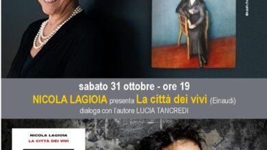 Photo of Simonetta Agnello Hornby e Nicola Lagioia a San Severo