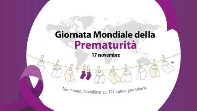 Photo of La fontana di Piazza Incoronazione illuminata per la Giornata Mondiale della Prematurità