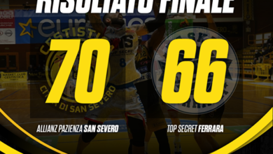 "Photo of La Cestistica ribalta il pronostico: Ferrara cade al ""Falcone e Borsellino"" 70-66"