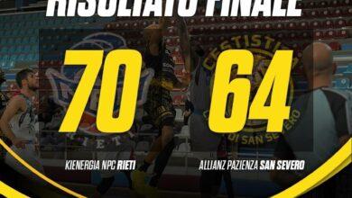 Photo of La Cestistica perde a Rieti i padroni di casa vincono 70-64