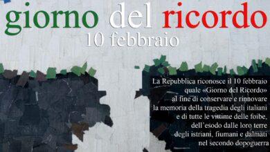 Photo of MERCOLEDI' 10 FEBBRAIO LA CITTA' DI SAN SEVERO CELEBRA IL GIORNO DEL RICORDO.