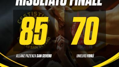 Photo of Basket: colpaccio dell'Allianz San Severo, battuta la capolista Unieuro Forlì per 85-70