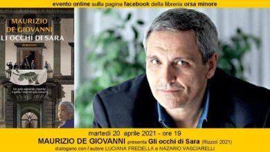 Photo of ALL'ORSA MINORE MAURIZIO DE GIOVANNI presenta Gli occhi di Sara (Rizzoli 2021)