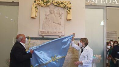 Photo of Ospedale di San Severo: posizionato all'ingresso monumentale  un bassorilievo della madonna del Soccorso