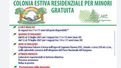 Photo of RIPARTE LA COLONIA ESTIVA 2021 DEL COMUNE DI SAN SEVERO