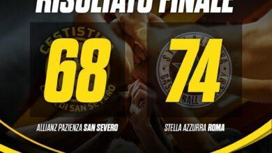 Photo of Basket: l'Allianz San Severo è retrocessa in Serie B, la Stella Azzurra vince 68-74