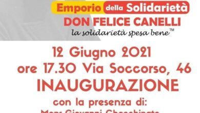 """Photo of Nasce l'emporio della Solidarietà """"Don Felice Canelli"""""""