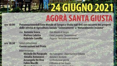 """Photo of Evento """"Agorà Santa Giusta"""" il 24 giugno presso l'ente morale """"Di Sangro"""""""