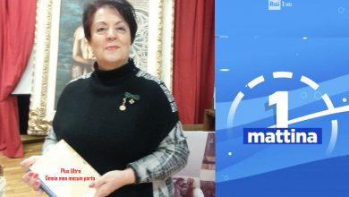"""Photo of A """"UNO MATTINA"""" la Prof.ssa Tomasone per il """"XIX Premio Giornalistico Naz.le """"Maria Grazia Cutuli"""""""