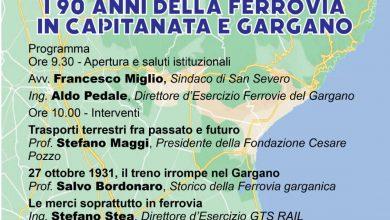 Photo of I 90 ANNI DELLA FERROVIA IN CAPITANATA E GARGANO. VENERDI' 22 OTTOBRE UN CONVEGNO AL MAT.