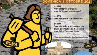 """Photo of DOMENICA 3 OTTOBRE FA TAPPA A SAN SEVERO L'INIZIATIVA """"VIA FRANCIGENA. ROAD TO ROME 2021""""."""